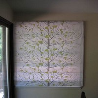 Roman Shade chinoiserie fabric